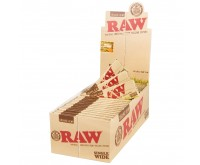 Organic Hemp Single Wide Papier à Rouler (Raw)
