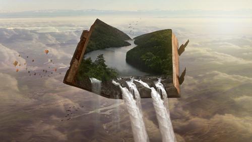 /lucide-dromen-boek-waterval